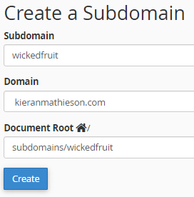 Make a subdomain